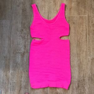 BEBE Tight hot pink dress